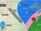 Minnesota Driving Conditions Map Snow Ice to Unleash Treacherous Travel Over north Central Us