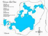 Minnesota Lake Depth Maps Amazon Com Woman Lake Chain Minnesota Standout Wood Map Wall