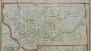 Minnesota Railroad Map Grant S Railroad and County Map Of Montana 1886 Philadelphia