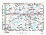 Minnesota south Dakota Border Map Missouri River Drainage Basin Landform origins In south Dakota Usa