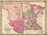 Minnesota south Dakota Border Map Old Historical City County and State Maps Of Minnesota