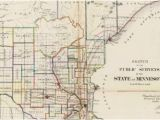 Minnesota State Map with Counties Old Historical City County and State Maps Of Minnesota
