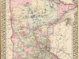 Minnesota State Map with Lakes Old Historical City County and State Maps Of Minnesota