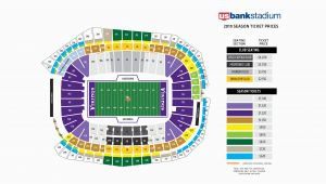 Minnesota Vikings Stadium Map Vikings Seating Chart at U S Bank Stadium Minnesota Vikings