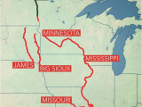 Mississippi River Minnesota Map Long Term Flooding Remains A Concern In Central Us as Rivers