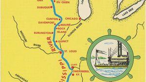 Mississippi River Minnesota Map Mississippi River From Bemidji to New orleans State Map Vintage