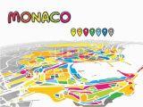 Monaco On Map Of Europe Monaco Monaco Downtown Map In Perspective Monaco Map