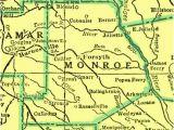 Monroe County Georgia Map County Of Monroe Georgiainfo