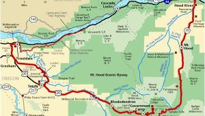 Mt Hood Map oregon Mt Hood Scenic byway Map America S byways Camping Rving