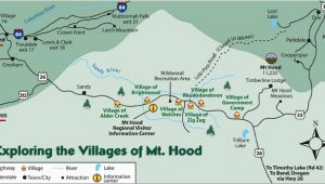 Mt Hood oregon Map area Map for Wemme and Welches oregon area