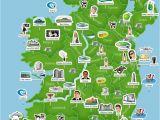 Must See In Ireland Map Map Of Ireland Ireland Trip to Ireland In 2019 Ireland Map