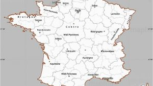 Nantes Region France Map Gray Simple Map Of France Cropped Outside
