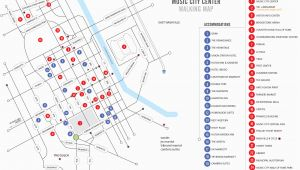 Nashville Tennessee attractions Map Walking Map Nashvillemusiccitycenter Com
