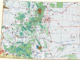 National forest Campgrounds Colorado Map Colorado Dispersed Camping Information Map