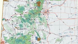 National forest Maps Colorado Colorado Dispersed Camping Information Map