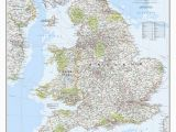 National Map Of England England and Wales Classic Wall Map 36 X 30 Home for