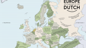 Netherlands On Europe Map Europe According to the Dutch Europe Map Europe Dutch