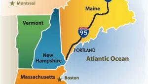 New England Coastline Map Greater Portland Maine Cvb New England Map New England Maps In