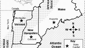 New England Map with Capitals Map Quiz States and Capitals New England Map Quiz Printout