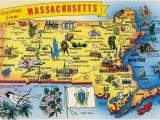 New England Massachusetts Map Postcard Massachusetts Map Most Popular Pictures