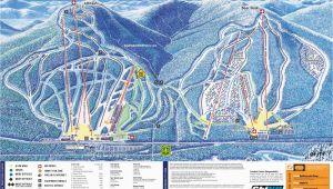 New England Ski Resort Map 2009 10 attitash Trail Map New England Ski Map Database