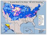 New England Snow Cover Map where March and April are the Snowiest the Weather Channel