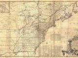 New England Wall Map 1757 Colonial Map Map Of British Colonies north America