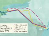New York Canada Border Map Visiting Niagara Falls From New York City