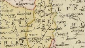 Newark England Map Nottinghamshire Geesnmore