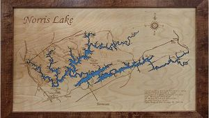 Norris Lake Map Tennessee Amazon Com norris Lake Tennessee Framed Wood Map Wall Hanging