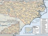 North and south Carolina Beaches Map State and County Maps Of north Carolina