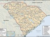 North and south Carolina Map with Cities State and County Maps Of south Carolina