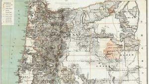 North Bend oregon Map 1879 oregon Map or Hillsboro Madras north Bend Molalla Jefferson