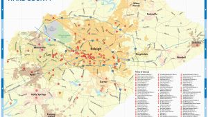North Carolina Airport Map Raleigh N C Maps Downtown Raleigh Map