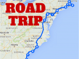 North Carolina attractions Map the Best Ever East Coast Road Trip Itinerary Road Trip Ideas