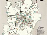 North Carolina Bbq Map Map Poster Set Charlotte Adventure Edia Maps Nc Sc Food