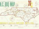 North Carolina Bbq Map Press Kit Edia Maps Nc Sc Food Adventure Maps