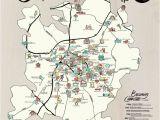 North Carolina Brewery Map Map Poster Set Charlotte Adventure Edia Maps Nc Sc Food