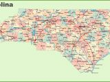North Carolina County and City Map Road Map Of north Carolina with Cities