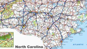 North Carolina County Map with Roads north Carolina Road Map