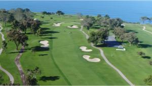 North Carolina Golf Courses Map south Course Hole 1 torrey Pines Golf