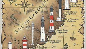 North Carolina Lighthouse Map Lighthouses In south Carolina Google Search I Never Knew We Had