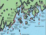 North Carolina Lighthouses Map Acadia and Penobscot Bay Maine Lighthouse Map the Lighthouse On