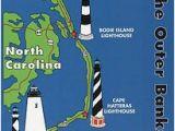North Carolina Lighthouses Map Outer Banks Lighthouses State Map Cape Hatteras north Carolina 5