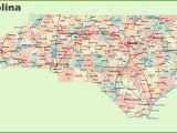 North Carolina Major Cities Map Road Map Of north Carolina with Cities