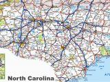 North Carolina Map with Cities and towns north Carolina Road Map