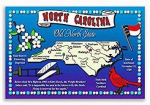 North Carolina State Fair Map Amazon Com north Carolina State Map Postcard Set Of 20 Identical