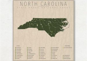 North Carolina State Parks Map north Carolina Parks National and State Park Map Fine Art