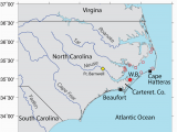 North Carolina Temperature Map Location Map Oyster Reserve Sites In Pamlico sound north Carolina