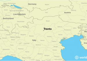 North East Italy Map where is Trento Italy Trento Trentino south Tyrol Map